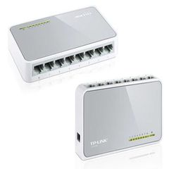 TP-Link 8-port 10/100M mini Desktop Switch, 8 10/100M RJ45 ports, Plastic case