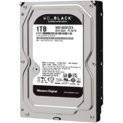 WD Desktop Black 1TB HDD 7200rpm 6Gb/s serial ATA sATA 64MB cache 3,5inch intern RoHS compliant Bulk